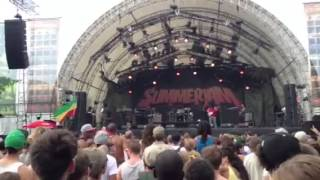 Chronixx performing Smile Jamaica @ summerjam Festival 2013