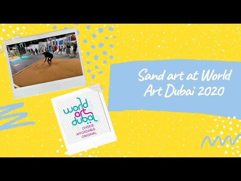 Sand Art – Mona Lisa Artistsharmi Visit to World Art Dubai 2020-  Episode 4
