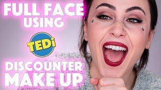 Das SCHLIMMSTE MAKEUP auf MEINEM KANAL 🤯 | Full Face Using TEDI 1€ Makeup | Hatice Schmidt