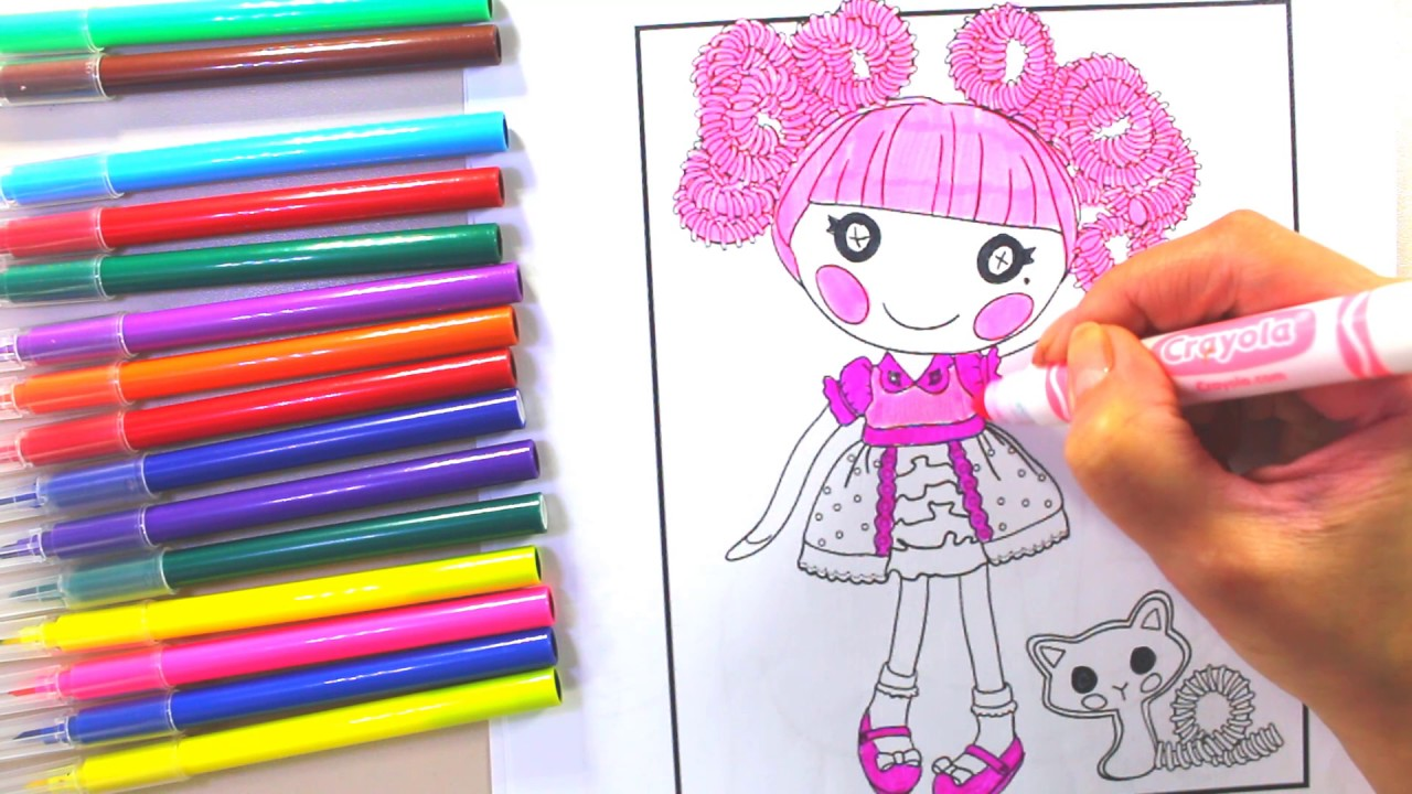 lalaloopsy videos: lalaloopsy coloring pages - YouTube