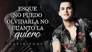 LETRA NO PUEDO OLVIDARLA - David Ponce Lyric Video