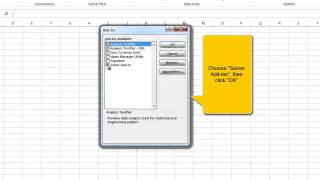 How to locate Excel Solver under Excel 2013