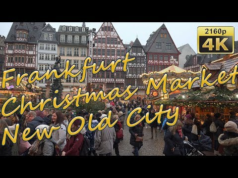 Frankfurt, Christmas Market And New Old City - Germany 4K Travel Channel
