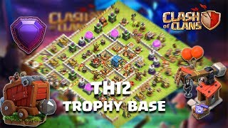 TH 12 LEGENDS STRONG DEFENSE AND TROPHY BASE / ANTI EVRYTHING With Replay / Clash Of Clans