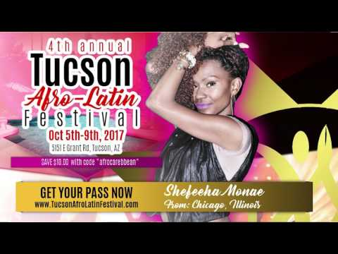 Shefeeha Monae and DJ Kimani at the Tucson Afro Latin Festival