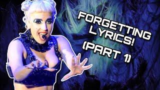 Lady Gaga - Messing/Forgetting Her Own Lyrics! (Part 1)