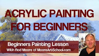 Acrylic Painting For Beginners #MooreMethod
