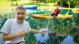 MONSTER IN POND PRANK ON STEPHEN SHARER!!