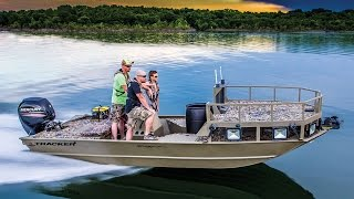tracker boats 2016 grizzly 2072 mvx sportsman bowfishing boat