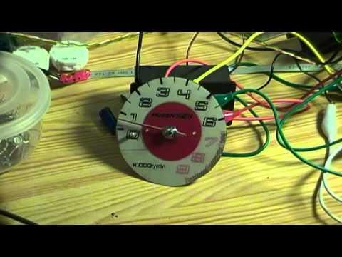 First test of the gauge stepper motor