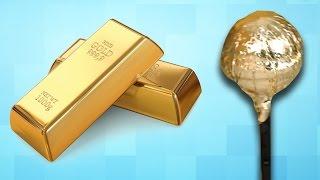 Altın ve Gümüşle Kaplı Lolipop Yaptık - Tadı Nasıl Oldu?