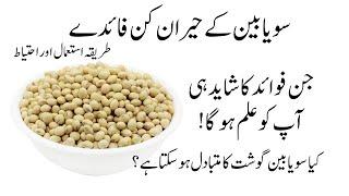 SoyaBean Ke Fayde   Soyabean Benefits   Safaid Lobia سویابین کے فائدے