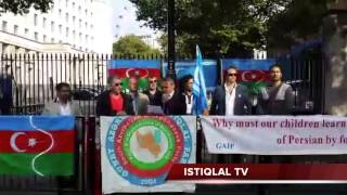 ISTIQLAL TV/ South Azerbaijan people demonstrating 21 September 2014