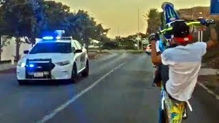 Street Racers Vs Police Chase -- Guys Are Crazy # 2