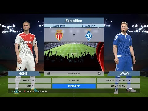 AS Monaco FC vs Dynamo Kyiv, Stade Louis II., PC GAMEPLAY, PCGAMEPLAY, PES 2016, Konami