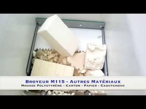 broyeur de d chets bois palettes caoutchouc carton papier mousse polystyr ne youtube. Black Bedroom Furniture Sets. Home Design Ideas