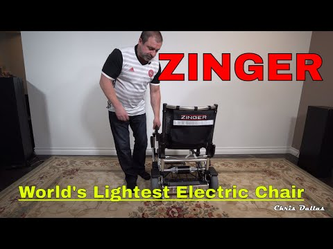 Zinger Folding Electric Mobility Chair - World's Lightest in