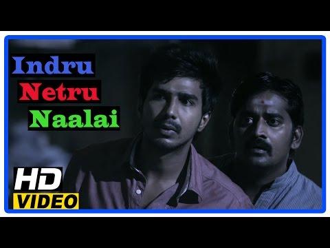 Indru Netru Naalai Tamil Movie | Scenes | Vishnu Tries Reversing An Incident | Karunakaran Gets Shot
