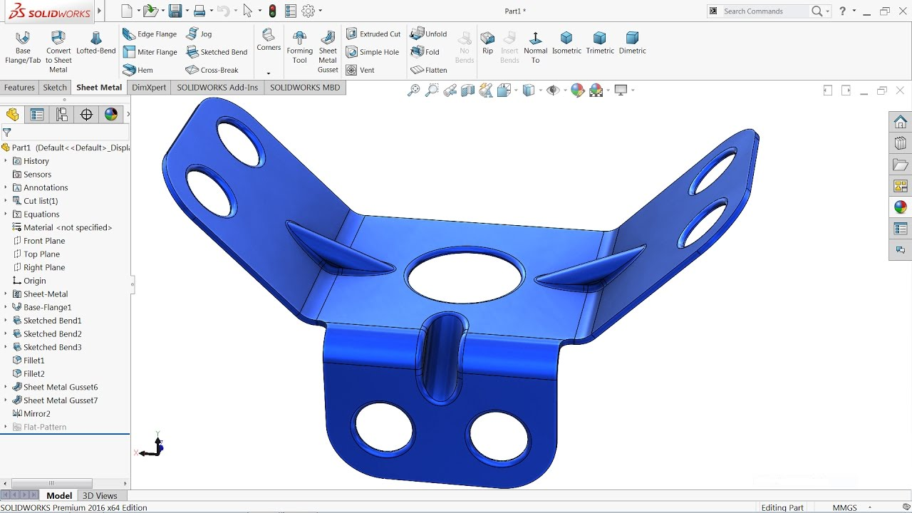 Solidworks Tutorial Sheet Metal Youtube
