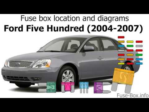 fuse box location and diagrams: ford five hundred (2004-2007 ... ford five hundred fuse diagram 2006 ford five hundred starter location youtube