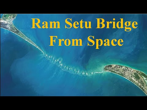 Ram Setu Satellite View || Ram Setu Bridge