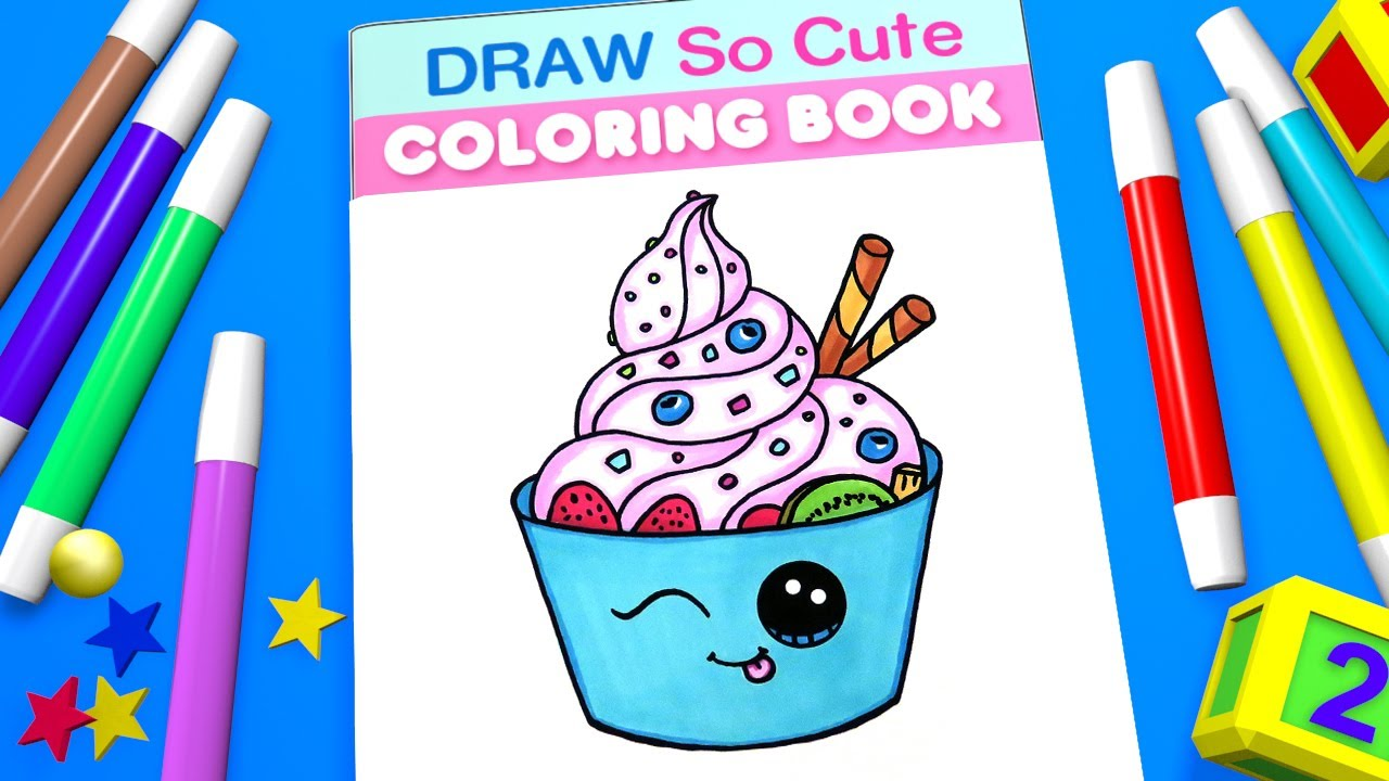 yogurt coloring pages for kids learn colors