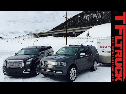 2015 Lincoln Navigator Vs Gmc Yukon Denali Vs The Ike Gauntlet Towing Test Part 1