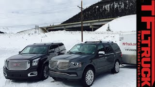 2015 Lincoln Navigator vs GMC Yukon Denali vs the Ike Gauntlet Towing Test (Part 1)