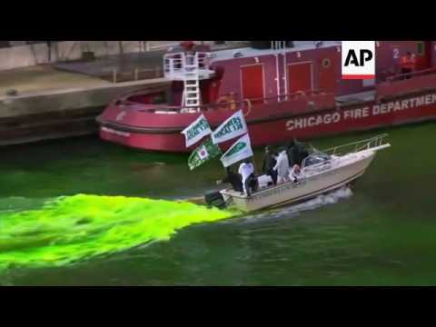Thousands Watch Chicago River Turn Green