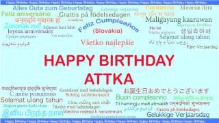 Attka   Languages Idiomas - Happy Birthday