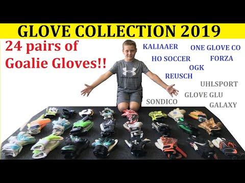 My Goalie Gloves Collection 2019 | 10 Year Old Boy's Goalkeeper Gloves | 24 PAIRS OF GOALIE GLOVES😱