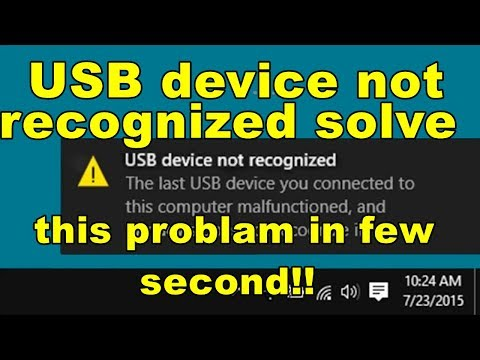 How To Fix USB Device Not Recognized In Windows 10/8/7    Usb Device Not Recognized Windows 7