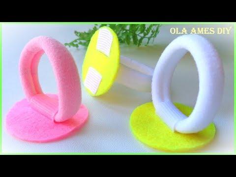 Канзаши/Крепление резинки к основе/Основа для резинок МК/Основа из фетра/Ola Ames DIY