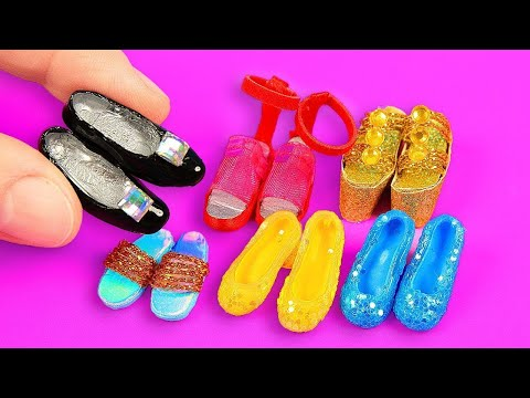 9 DIY Miniature Barbie Shoes and Boots ~ ZAPATOS para MUÑECAS Barbie