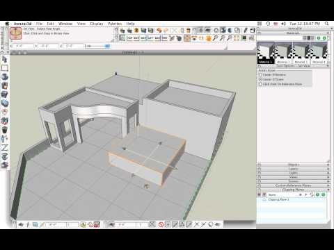 bonzai3d - Sketch example : an architectural design exploration