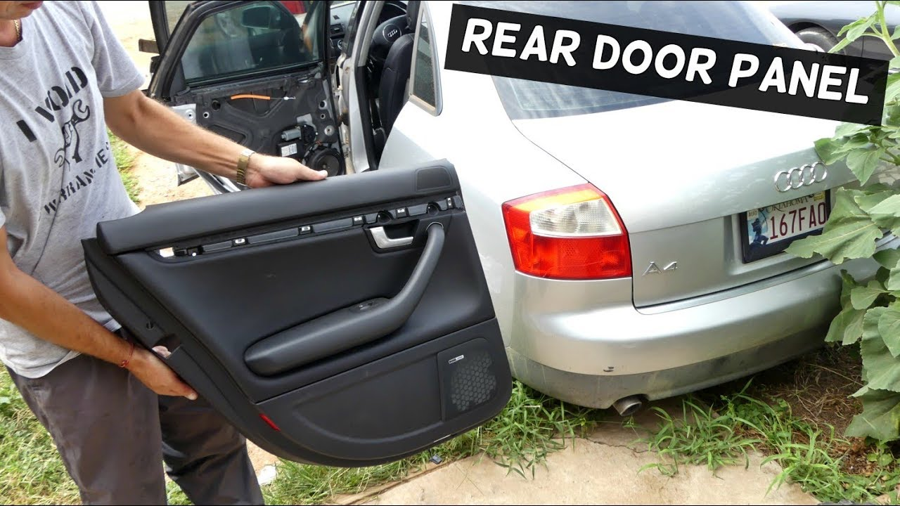 How To Remove Rear Door Panel On Audi A4 B6 2002 2003 2004 2005 Youtube