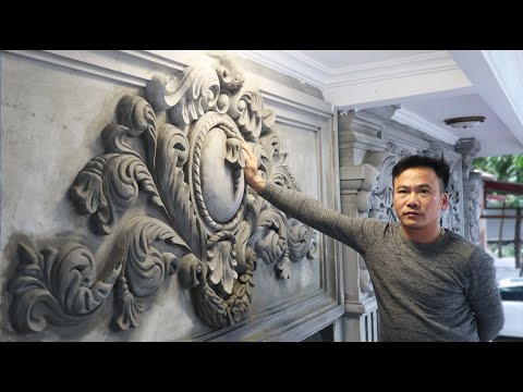 Art sculpture of reliefs with sand And cement - How To Beautify Your House