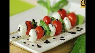 Хрустящие шарики из моцареллы и салат на шпажках | БЫСТРО, ВКУСНО, ПОЛЕЗНО