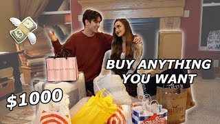 """BUY ANYTHING YOU WANT"" CHALLENGE WITH GIRLFRIEND!"