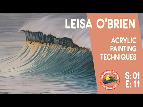 Fine art tips with a Free Art Lessons in Acrylic and Oil with Leisa O'Brien on Colour In Your Life