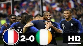 Prancis vs Irlandia 2-0 All Goals & Highlights 29 Mei 2018 International Friendly Match