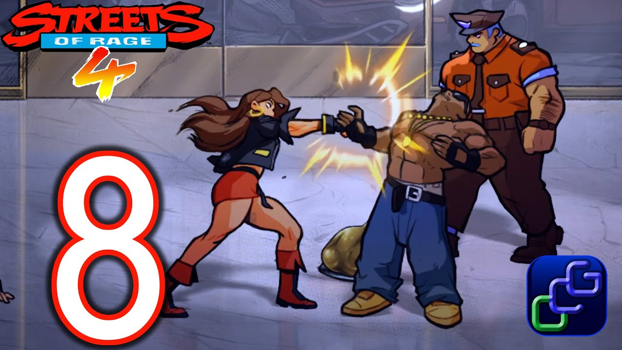 Streets of Rage 4 PC 4K Gameplay – Part 8 – Stage 8: Art Gallery