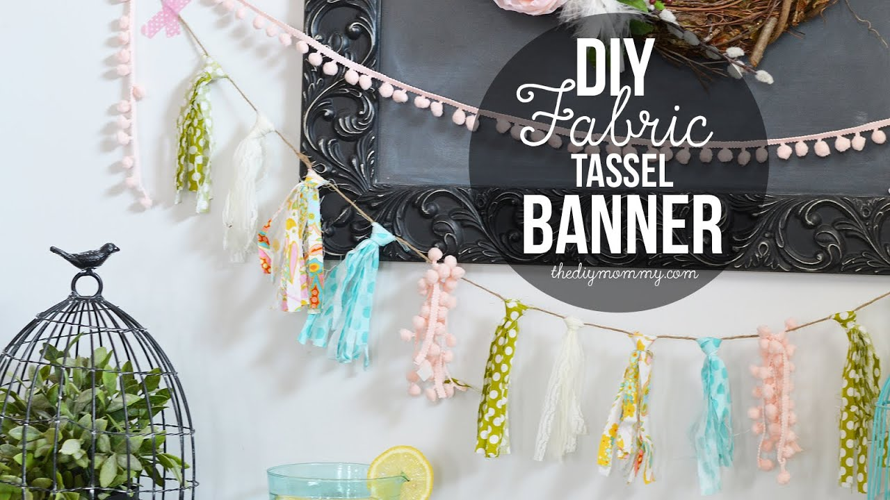 how to make a fabric tassel banner  youtube