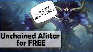 How to get UNCHAINED ALISTAR skin and champion for FREE ! 2015