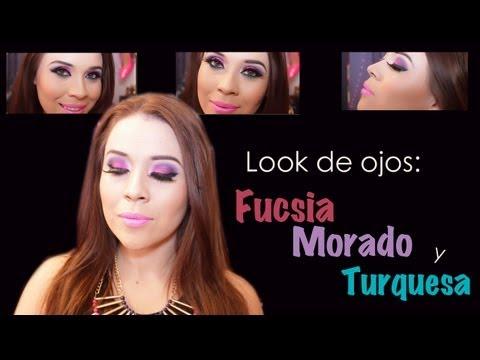Look Fucsia, Morado, Negro y Turquesa