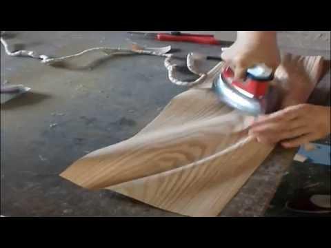 How to glue wood veneers for door & How to glue wood veneers for door - YouTube