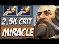 MIRACLE DOTA - Miracle Kunkka - 2500 CRIT DAMAGE | Road to Dota 2 2018