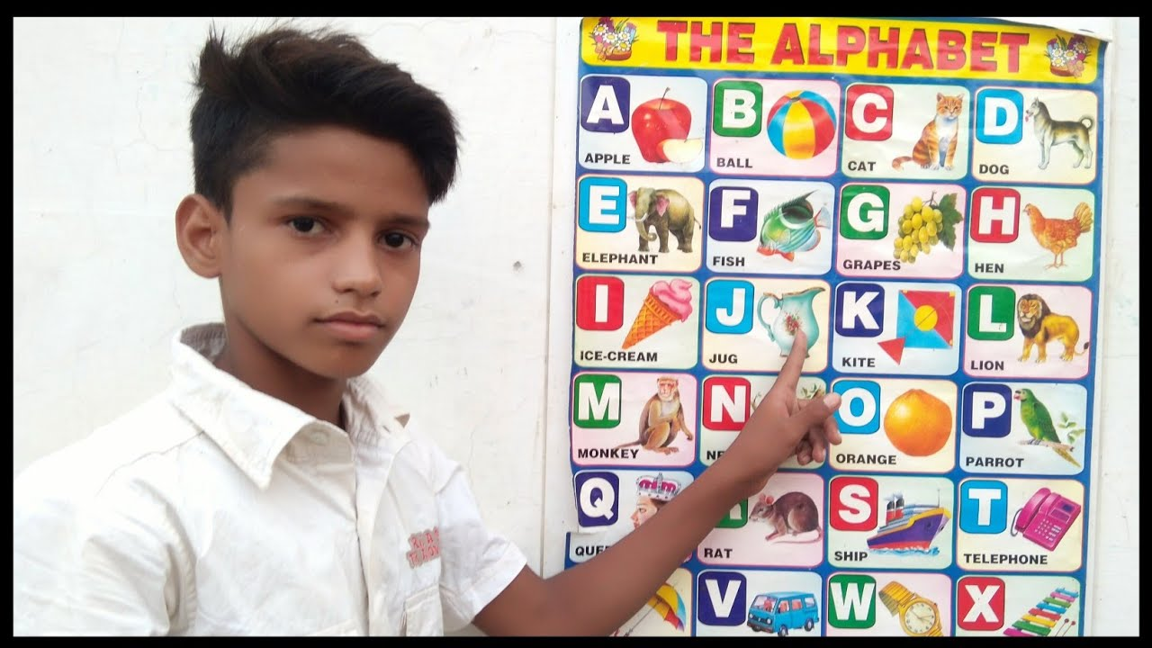 Part 19, a for apple b for badka Apple c for chota Apple, ABCD chart video, abcd English alphabet,