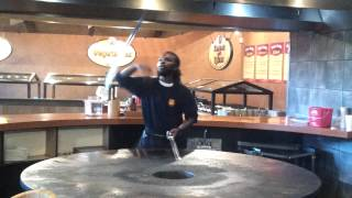 Sword Tricks Bd's Mongolian grill on coventry