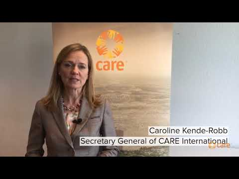 Caroline Kende-Robb, SG of CARE International talking about CARE's Fair Share Campaign